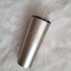 Starbucks Metallic Gold Cold Cup